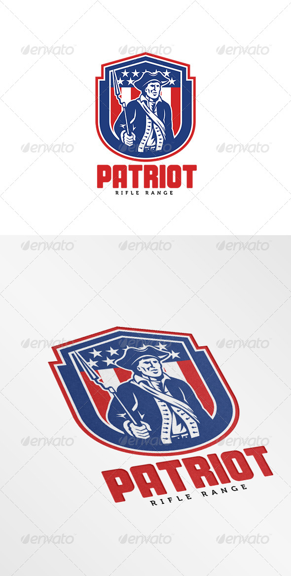 GraphicRiver American Patriot Rifle Range Logo 7910681