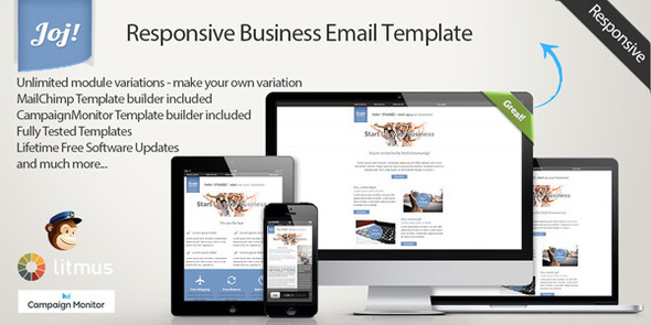JOJ - Responsive Business Email Template - Newsletters Email Templates