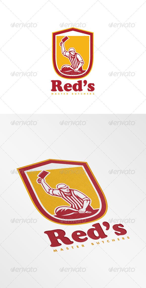 GraphicRiver Red s Master Butcher Retro Logo 7910771