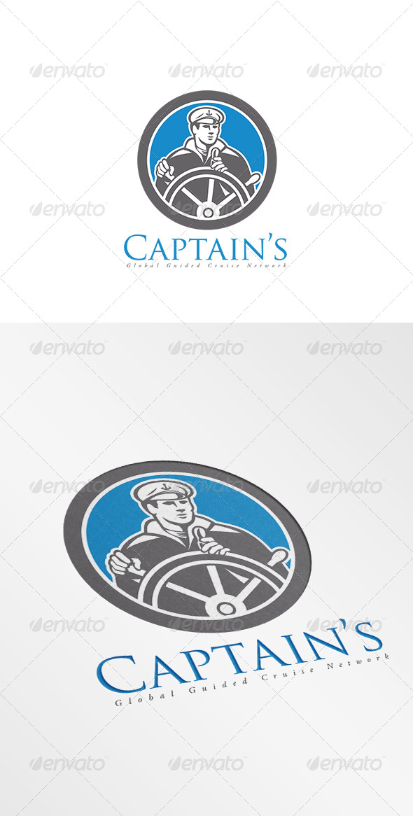 GraphicRiver Captain Global Guided Cruise Logo 7910776