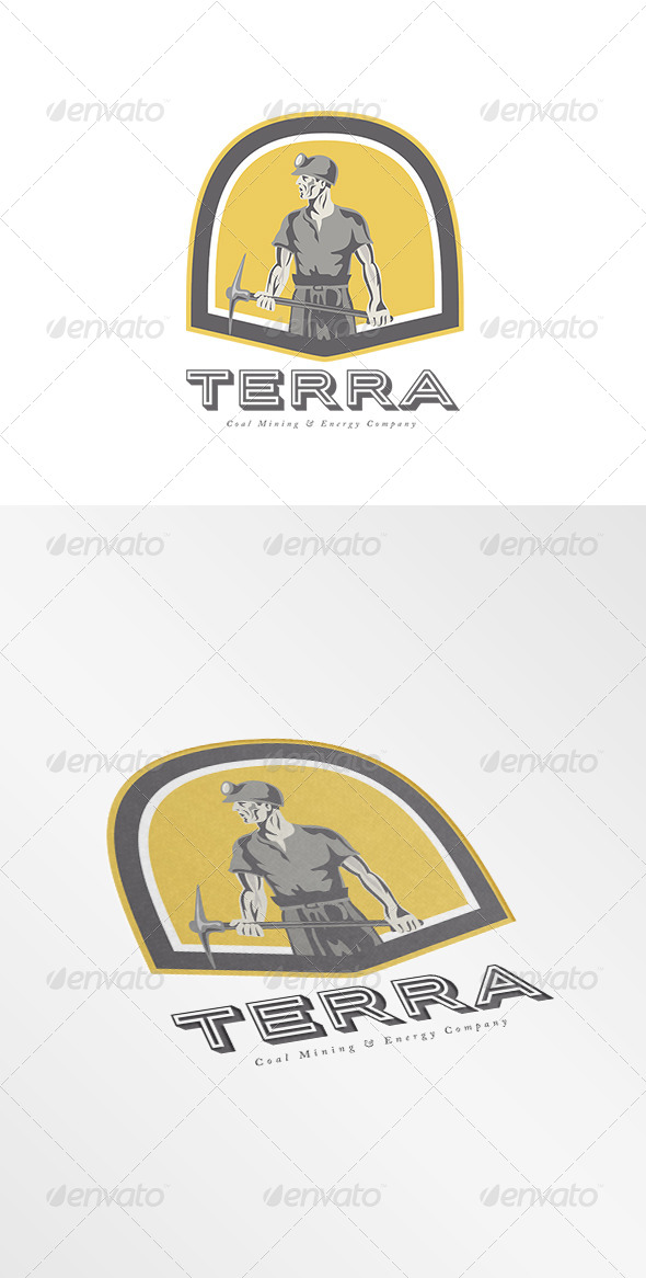 GraphicRiver Terra Coal Energy Company Logo 7910778