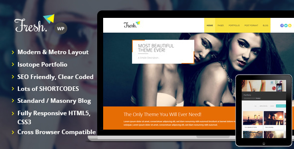 ThemeForest Fresh Responsive Multi-Purpose WordPress Theme 7857821