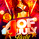 Four of July Party Flyer Template PSD - GraphicRiver Item for Sale