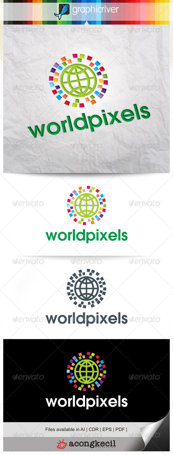 GraphicRiver World Pixels V.2 7911151