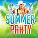 Summer & Beach Party Facebook Timeline Cover V1 - GraphicRiver Item for Sale