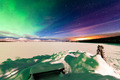 Aurora borealis Whitehorse light pollution Yukon - PhotoDune Item for Sale