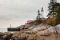 West Coast BC Canada granite rock cliff lighthouse - PhotoDune Item for Sale
