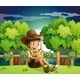 Young Explorer on a Hill - GraphicRiver Item for Sale