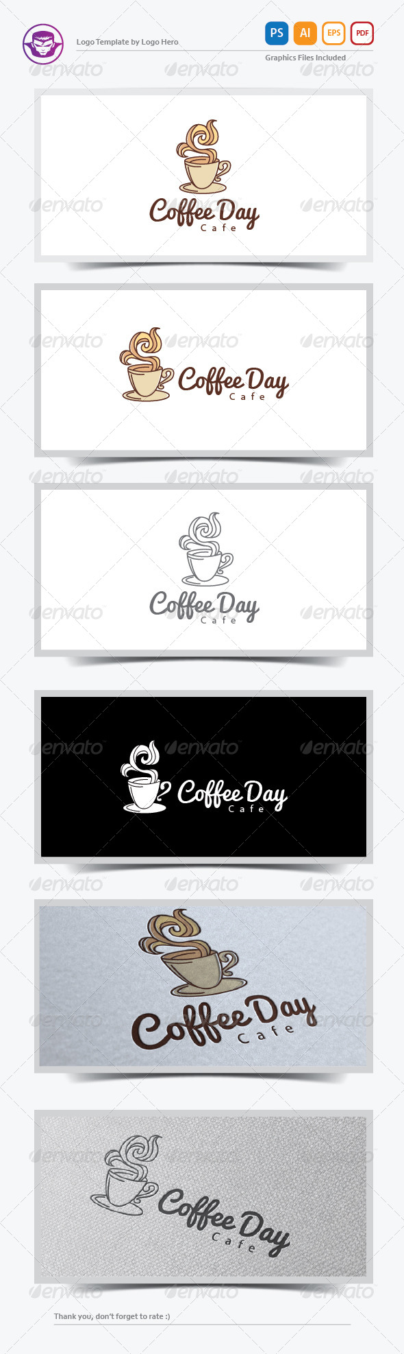 GraphicRiver Coffee Day Logo Template 7911292