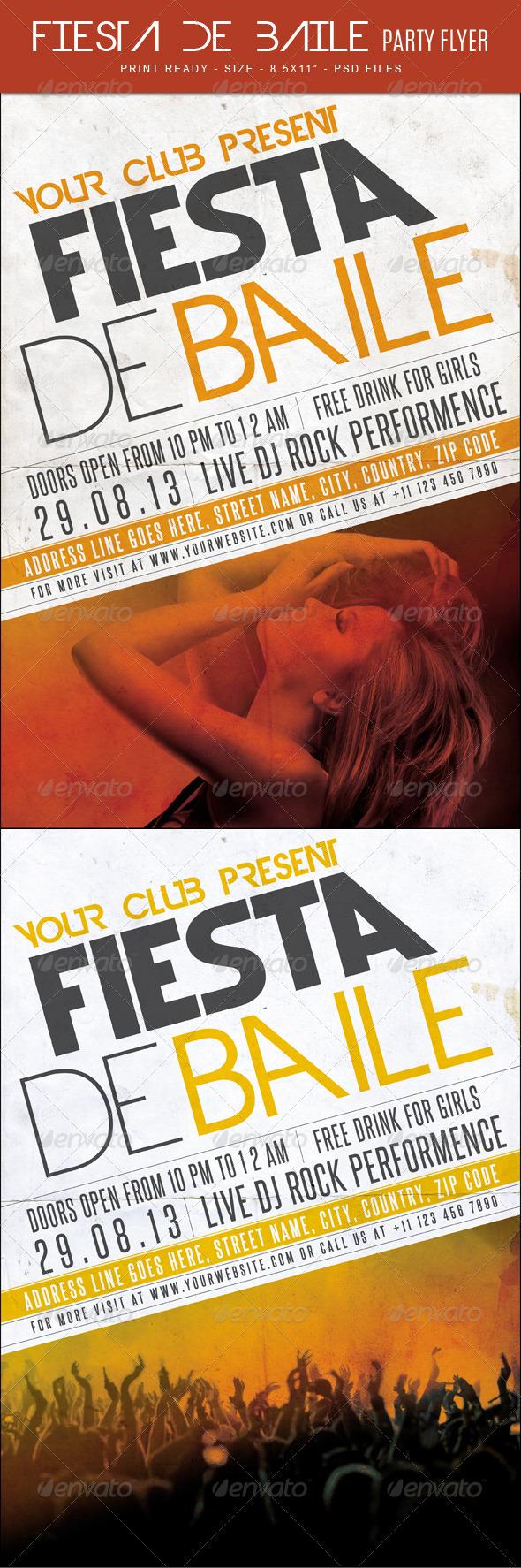 GraphicRiver Fiesta De Baile party Flyer 7902702