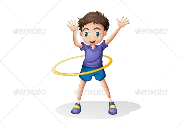 GraphicRiver Boy Playing Hulahoop 7911440