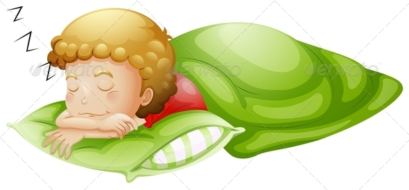 GraphicRiver Little Boy Sleeping Soundly 7911619