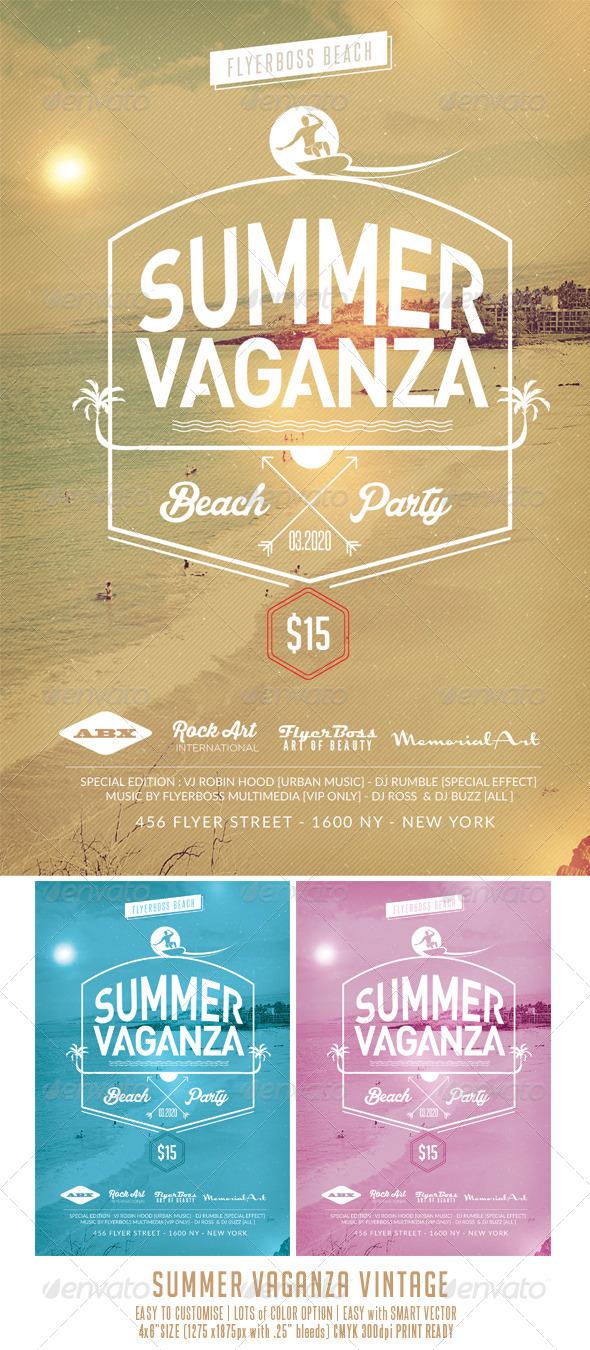 GraphicRiver Summer Vaganza Vintage 7911625