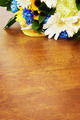 Bouquet of flowers on a wooden surface - PhotoDune Item for Sale