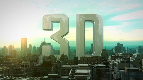 AE模板:史诗电影预告片 三维城市建筑 文字片头 摩天大楼企业公司logo展示E3D模板