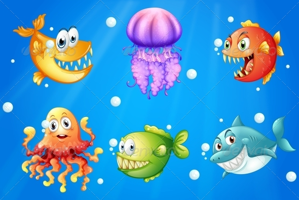 GraphicRiver Sea with Creatures 7911644