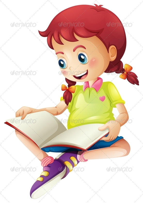 GraphicRiver Girl Reading Book 7911653
