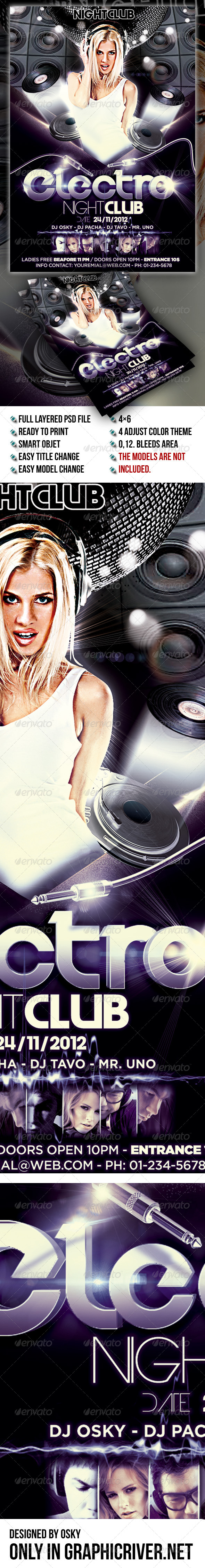 GraphicRiver Electro Night Club 7911655
