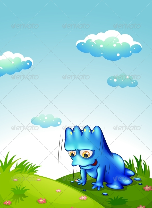GraphicRiver Monster Exercising on Hill 7911696