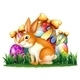 Bunny in Front of Easter Eggs - GraphicRiver Item for Sale