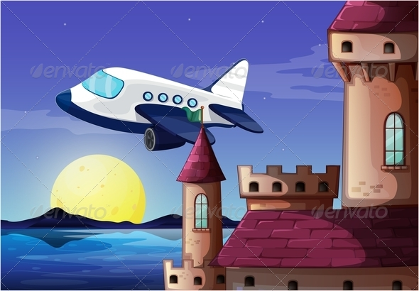 GraphicRiver Airplane Near a Castle 7911722