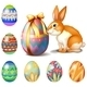 Seven Easter Eggs and a Bunny - GraphicRiver Item for Sale