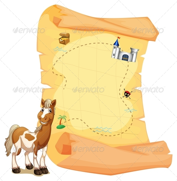 GraphicRiver Treasure Map with Smiling Horse 7911977