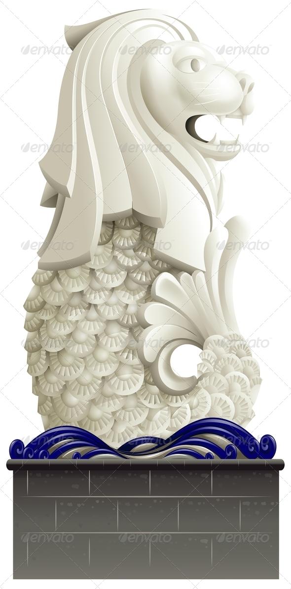 GraphicRiver Statue of Merlion 7911988