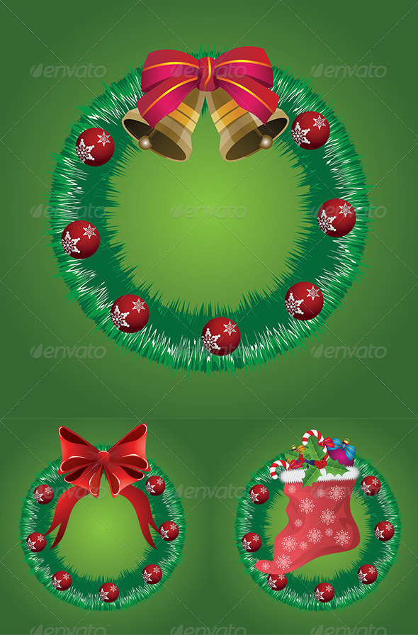 GraphicRiver Christmas Wreath with Bells 7911993