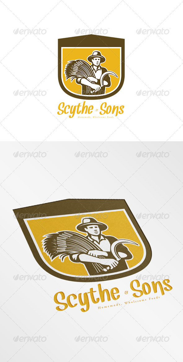 GraphicRiver Scythe and Sons Homemade Wholesome Foods Logo 7912188