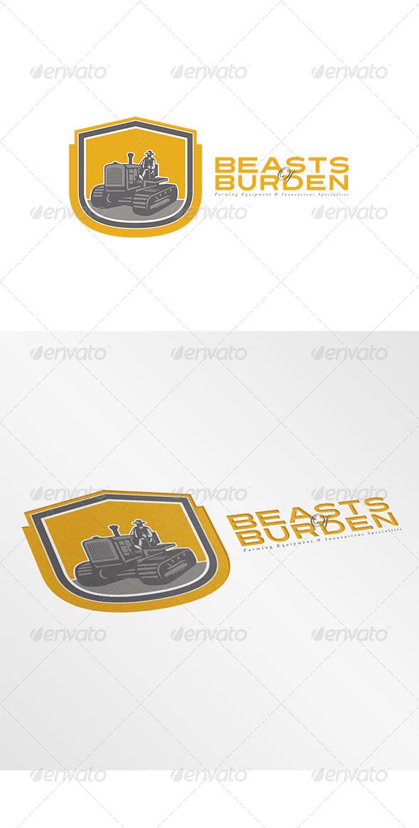 GraphicRiver Beasts of Burden Farming Equipment Logo 7912347