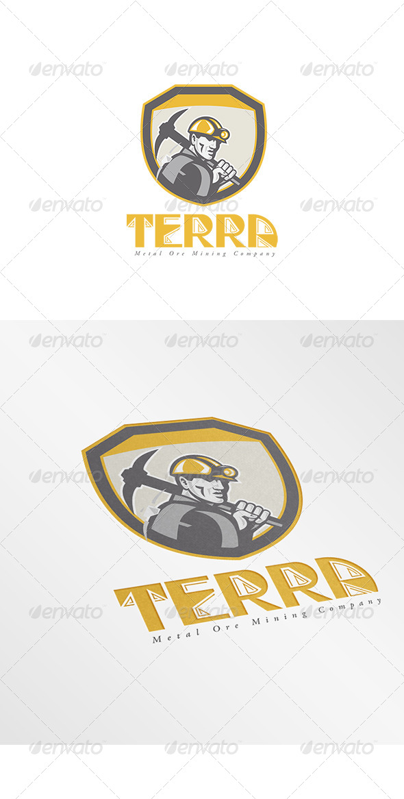 GraphicRiver Terra Metal Ore Logo 7912505
