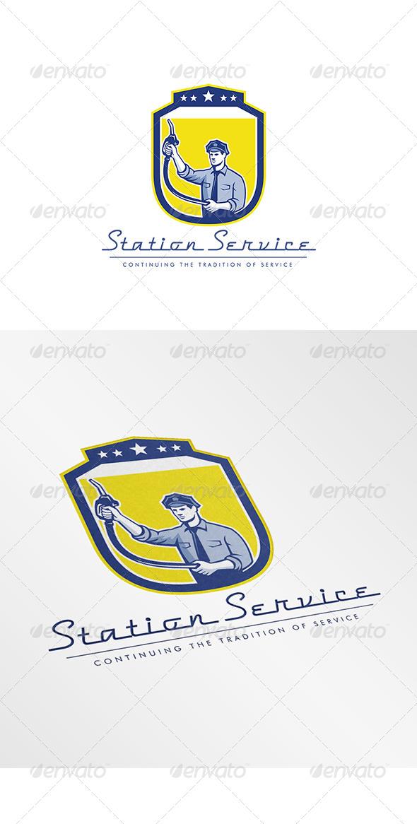 GraphicRiver Station Service Logo 7912554