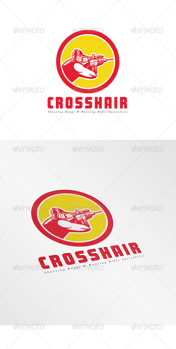 GraphicRiver Crosshair Shooting Range Logo 7912557
