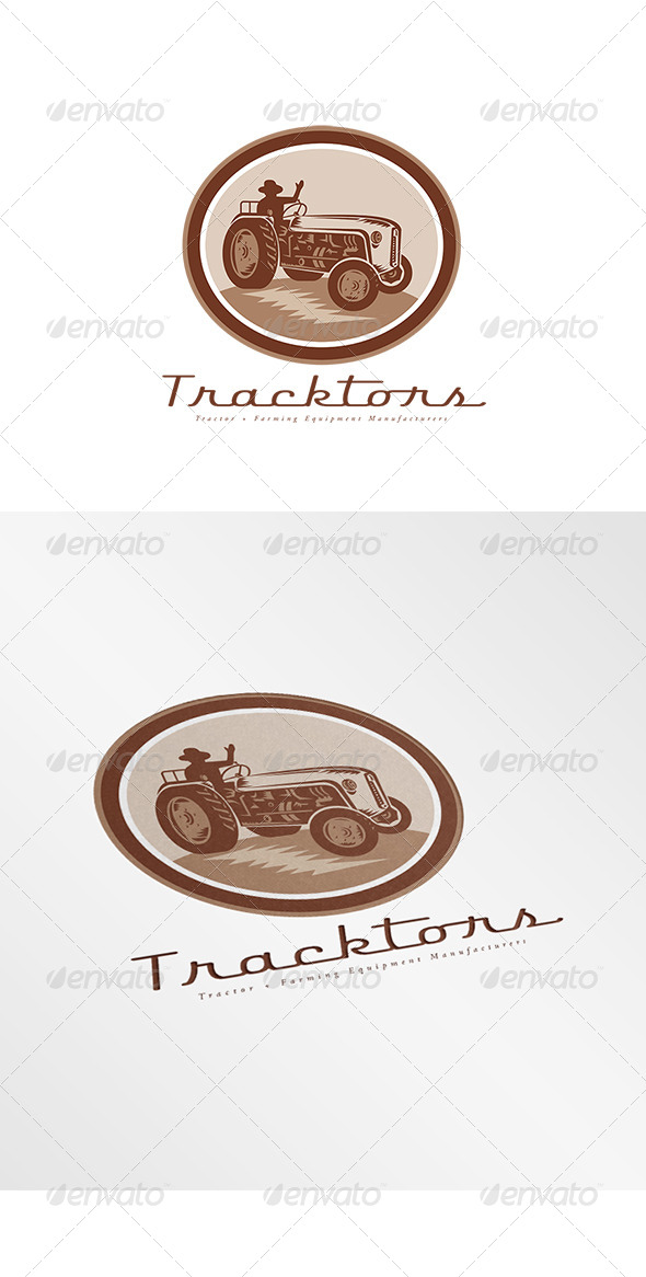 GraphicRiver Tracktors Farming Equipment Logo 7912618