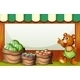 Bear at Market with Empty Sign - GraphicRiver Item for Sale