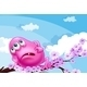 A Pink Monster Resting on a Branch of a Tree - GraphicRiver Item for Sale