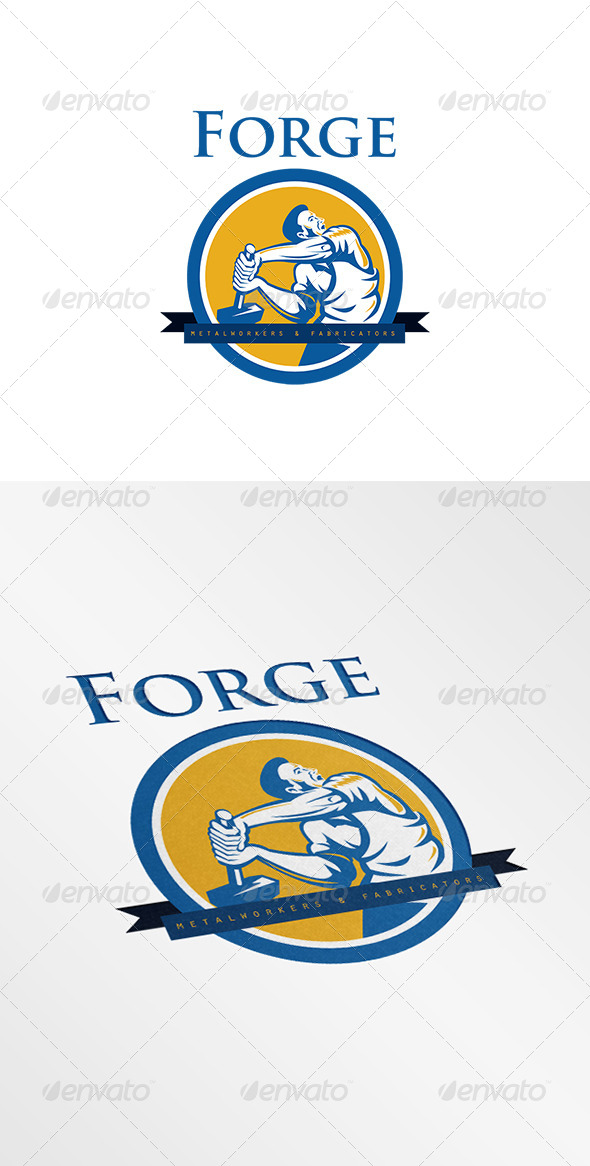 GraphicRiver Forge Metal Workers Logo 7912631