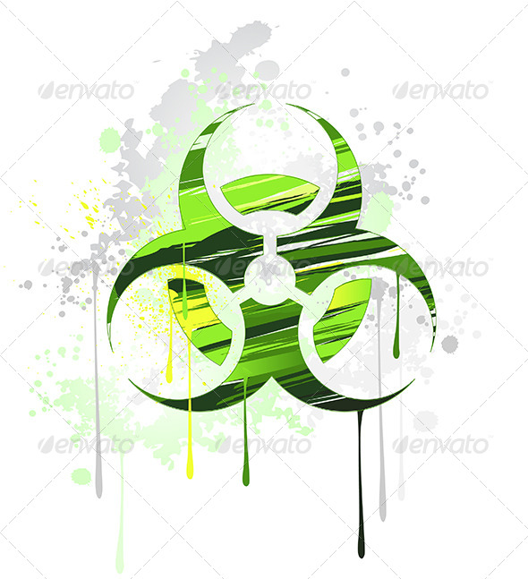 GraphicRiver Symbol of Biological Danger Drawn with Paint 7912833