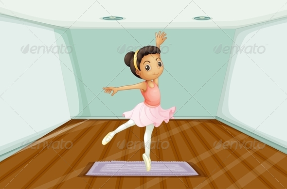 GraphicRiver Young Ballet Dancer Dancing Above the Rug 7912874