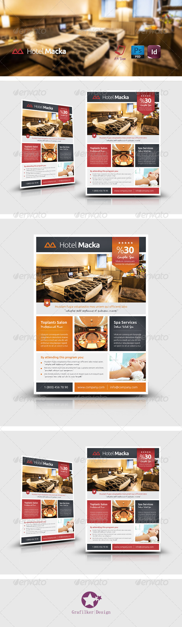 GraphicRiver Hotel Flyer Templates 7912879