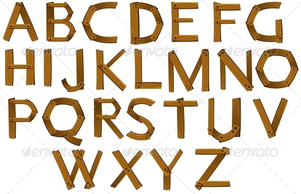 GraphicRiver Wooden Letters of the Alphabet 7912882