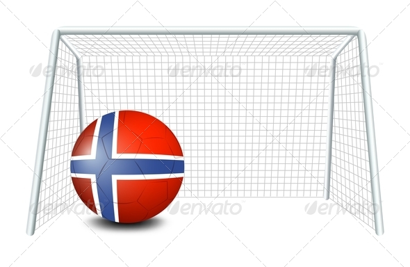 A Soccer Ball with the Flag of Norway