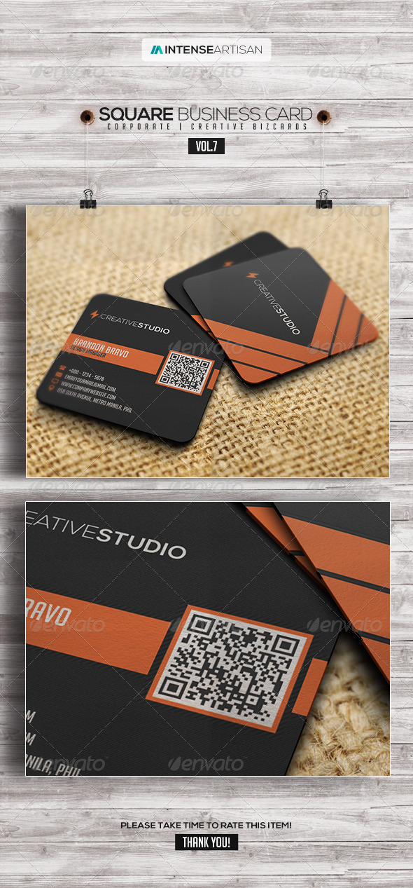GraphicRiver Square Business Card V.7 7912998