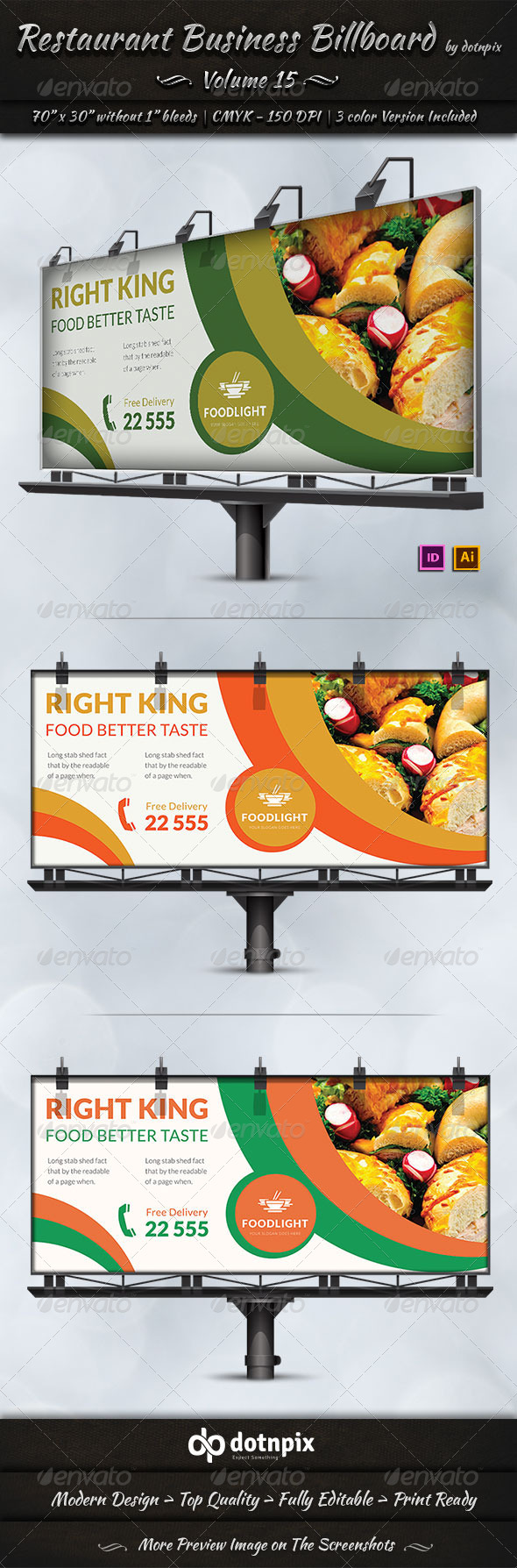 GraphicRiver Restaurant Business Billboard Volume 15 7913056
