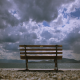 Bench Overlooking The Clouds - VideoHive Item for Sale