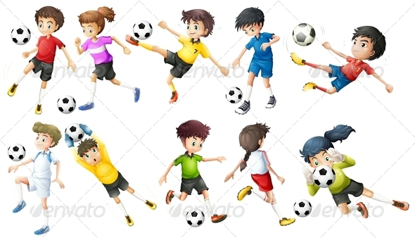 GraphicRiver Soccer Players 7913143