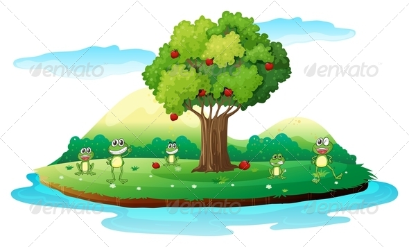GraphicRiver An Island with Frogs 7913216