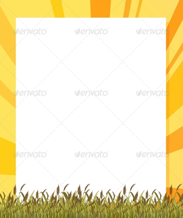 GraphicRiver Empty Paper Template with Plants at the Bottom 7913347