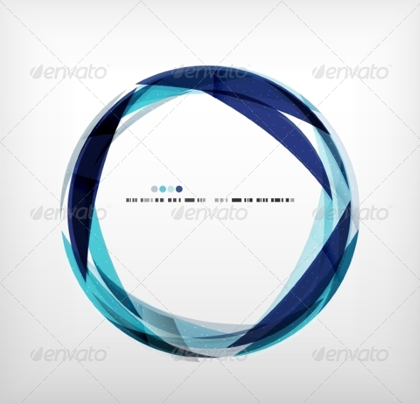 GraphicRiver Blue Ring Abstract Bubble 7914587